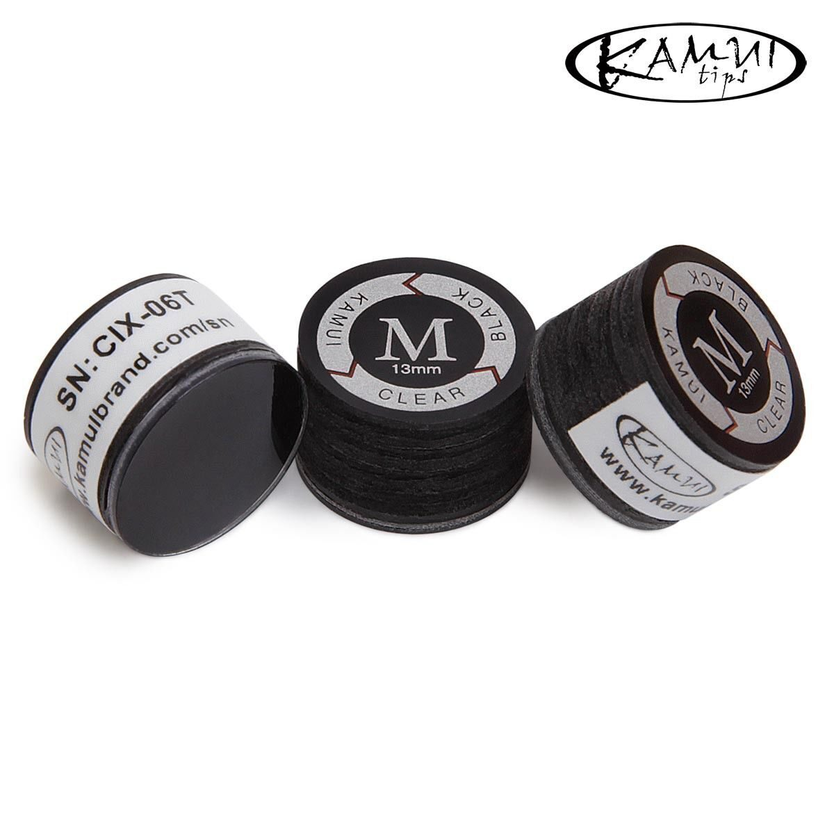 Наклейка для кия Kamui Clear Black 13 мм medium