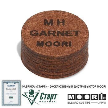 Наклейка для кия Moori 14 мм Jewel Garnet MH